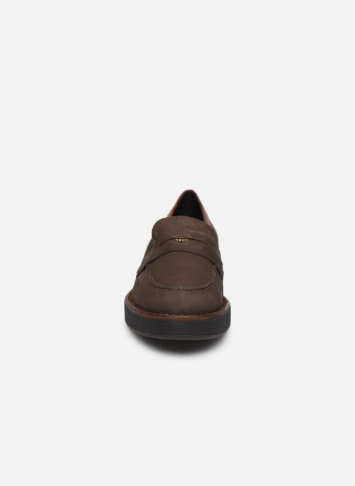 Mocassins Geox D ADRYA E D849TE Marron vue portées chaussures