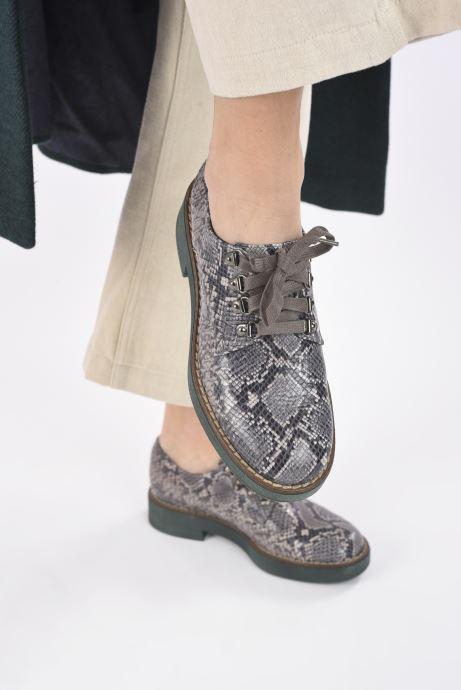 Chaussures à lacets Geox D ADRYA C D849TC Gris vue bas / vue portée sac