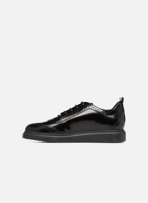 Zapatos con cordones Geox D THYMAR F D844BF Negro vista de frente