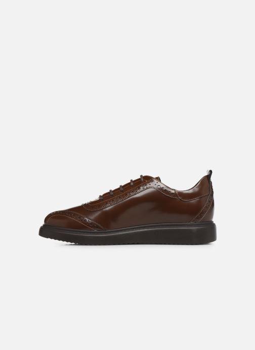 Chaussures à lacets Geox D THYMAR F D844BF Marron vue face