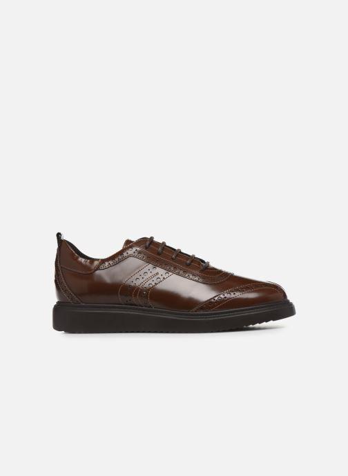 Chaussures à lacets Geox D THYMAR F D844BF Marron vue derrière