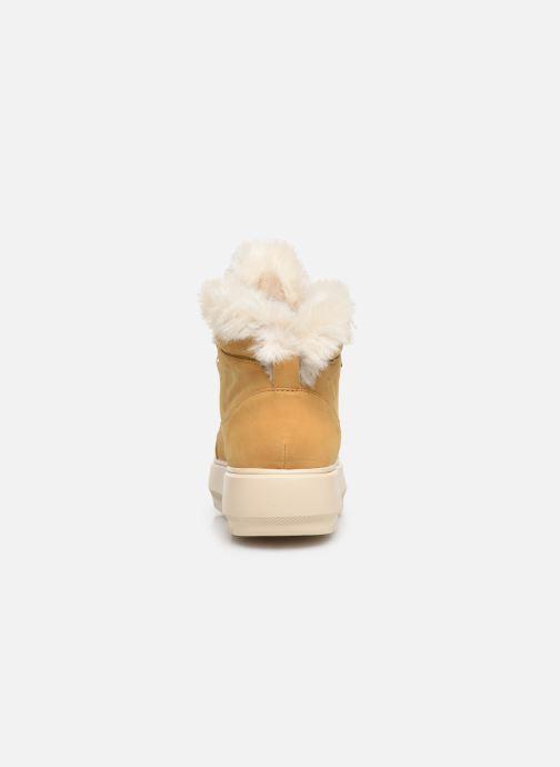 Sneaker Geox D KAULA B ABX D D84AWD gelb ansicht von rechts