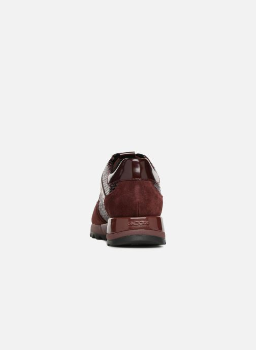 Trainers Geox D TABELYA A D84AQA Burgundy view from the right