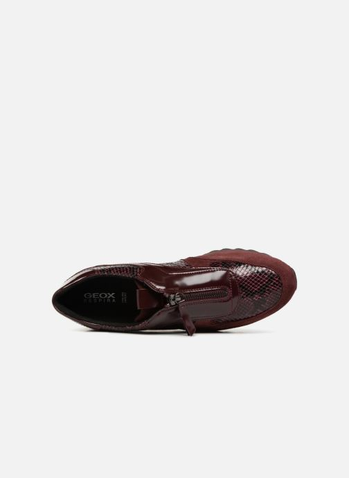 Trainers Geox D TABELYA A D84AQA Burgundy view from the left
