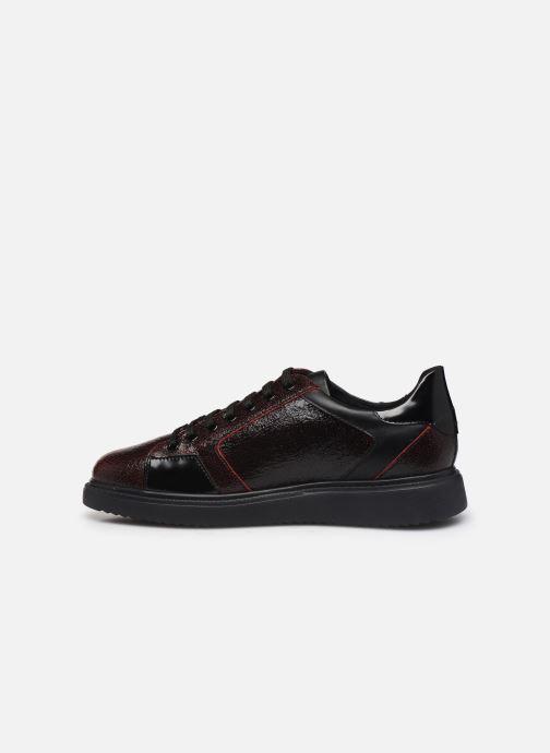 Sneaker Geox D THYMAR E D844BE weinrot ansicht von vorne
