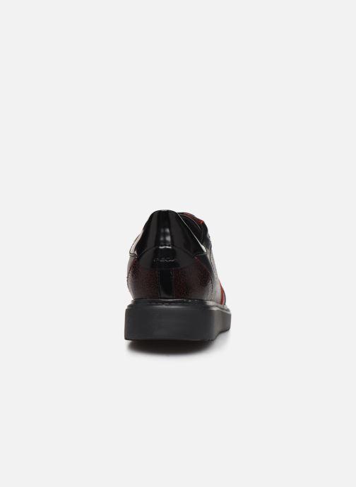 Sneaker Geox D THYMAR E D844BE weinrot ansicht von rechts