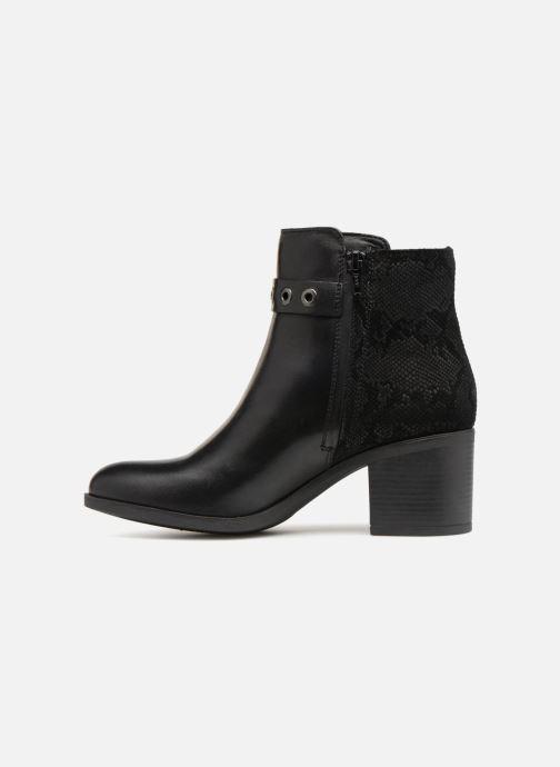 Bottines et boots Geox D GLYNNA NP ABX B D84AZB Noir vue face