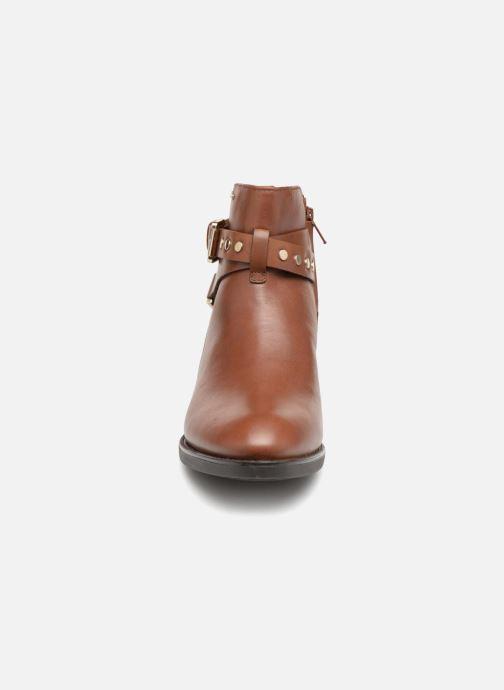 Bottines et boots Geox D FELICITY NP ABX B D84BLB Marron vue portées chaussures