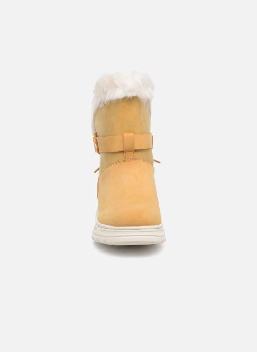 Bottines et boots Geox D HOSMOS B ABX C D84AUC Jaune vue portées chaussures