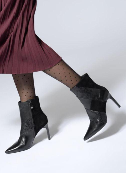 Bottines et boots Geox D FAVIOLA E D848UE Noir vue bas / vue portée sac