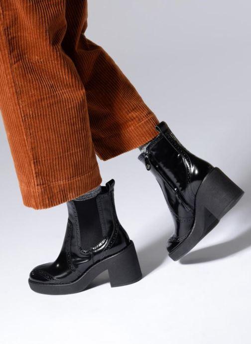 Bottines et boots Geox D ADRYA MID C D849UC Noir vue bas / vue portée sac
