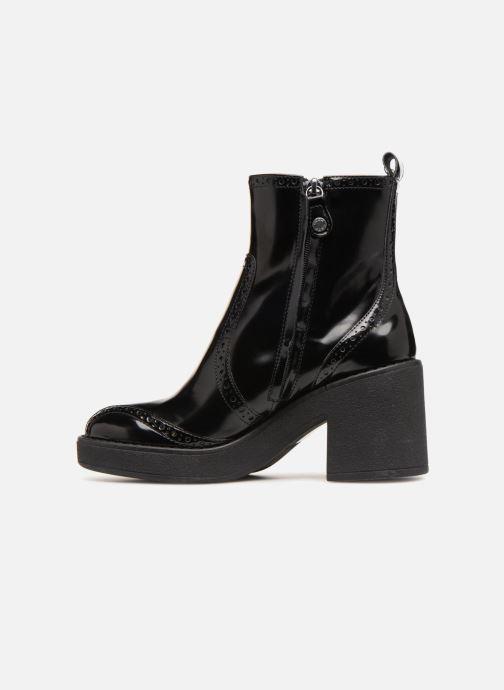 Boots en enkellaarsjes Geox D ADRYA MID C D849UC Zwart voorkant