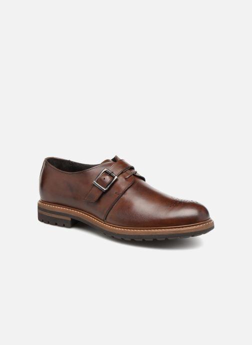 Zapato con hebilla Mr SARENZA Niris Marrón vista lateral derecha