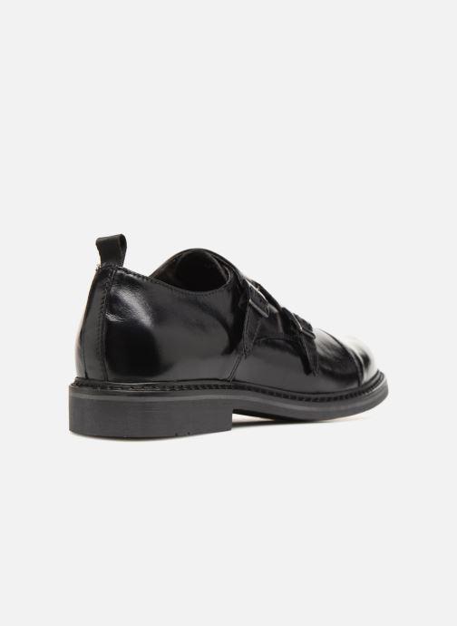 Zapato con hebilla Mr SARENZA Nelio Negro vista de frente