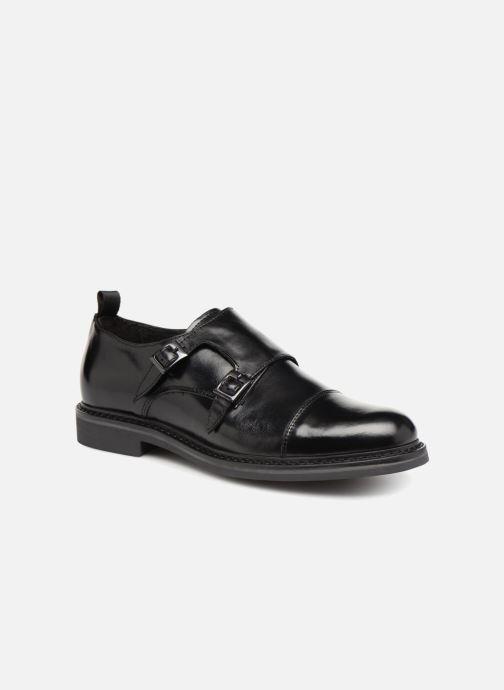 Zapato con hebilla Mr SARENZA Nelio Negro vista lateral derecha