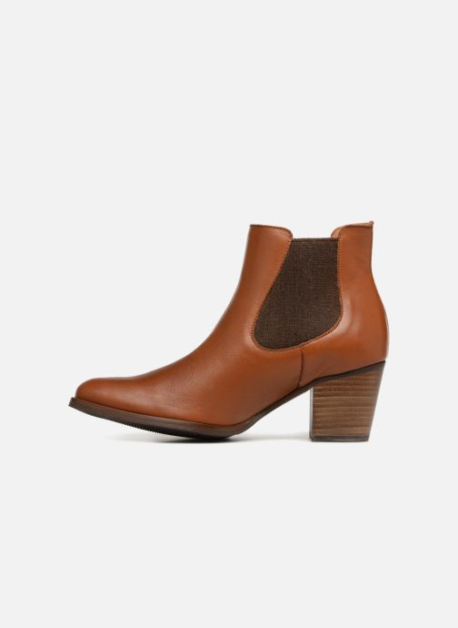 Ankle boots Karston Glones Brown front view