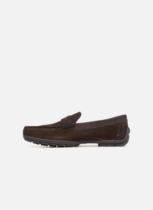 Mocassins Geox U MONER W 2FIT D U44Q6D Marron vue face