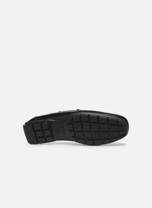 Loafers Geox U MONER W 2FIT D U44Q6D Black view from above