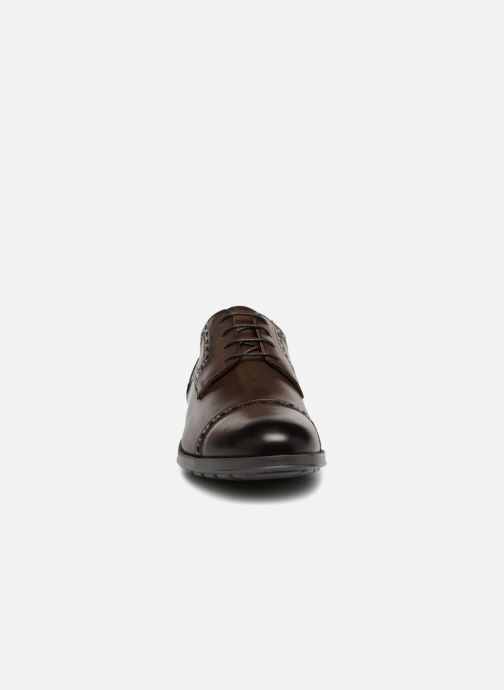 Lace-up shoes Geox U HILSTONE 2FIT A U824PA Brown model view
