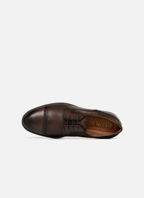 Lace-up shoes Geox U HILSTONE 2FIT A U824PA Brown view from the left