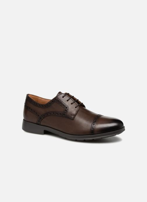 Lace-up shoes Geox U HILSTONE 2FIT A U824PA Brown detailed view/ Pair view
