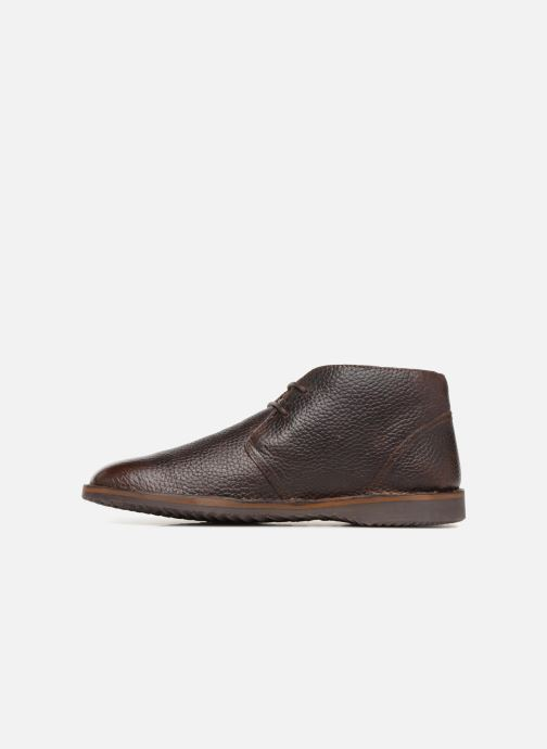Ankle boots Geox U  ZAL A U84U5A Brown front view