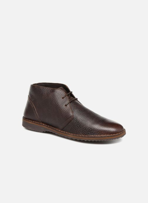 Ankle boots Geox U  ZAL A U84U5A Brown detailed view/ Pair view