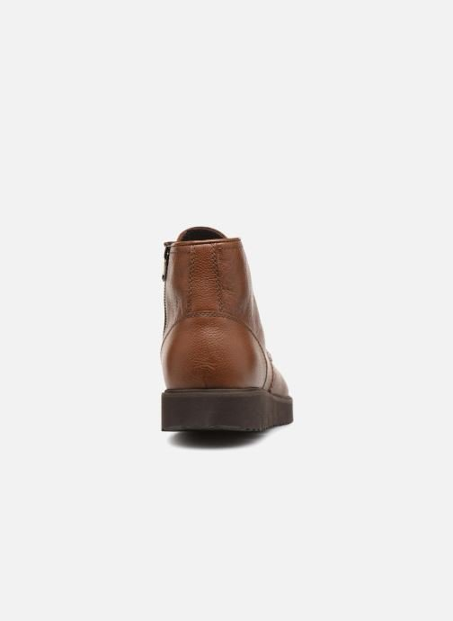 Ankle boots Geox U NEW PLUGES D U843WD Brown view from the right