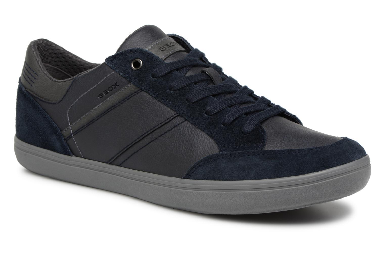 Geox U BOX F U84R3F (Bleu) - Baskets en Más cómodo Dernières chaussures discount pour hommes et femmes