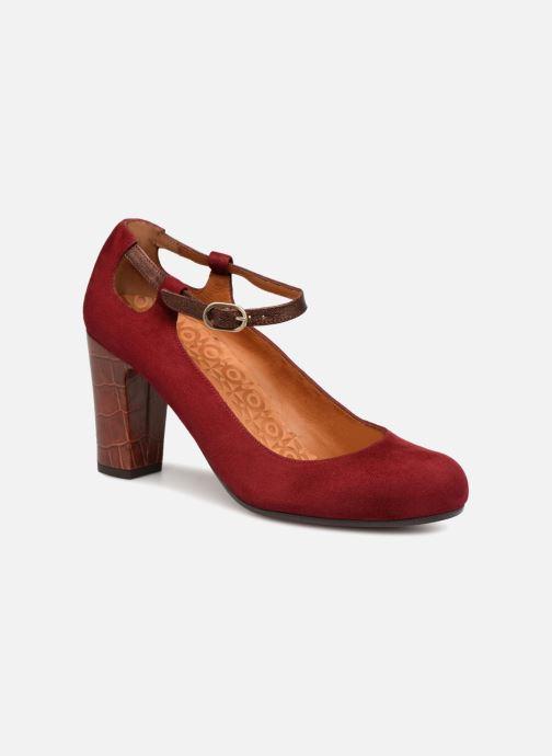 High heels Chie Mihara Kerol Burgundy detailed view/ Pair view