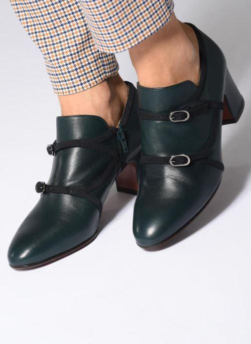 Bottines et boots Chie Mihara Navy Vert vue bas / vue portée sac