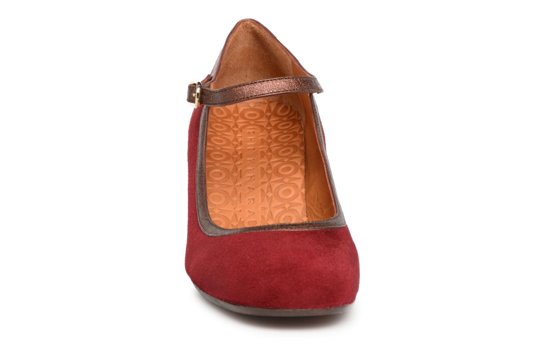 Escarpins Chie Mihara Ponza Rouge vue portées chaussures