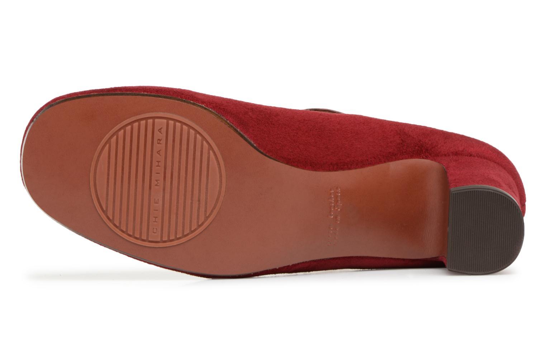 Escarpins Chie Mihara Ponza Rouge vue haut