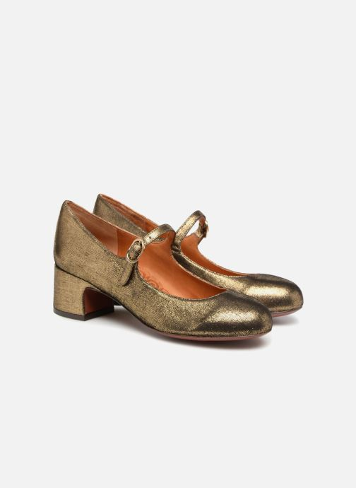 High heels Chie Mihara U Nead 33 Bronze and Gold 3/4 view