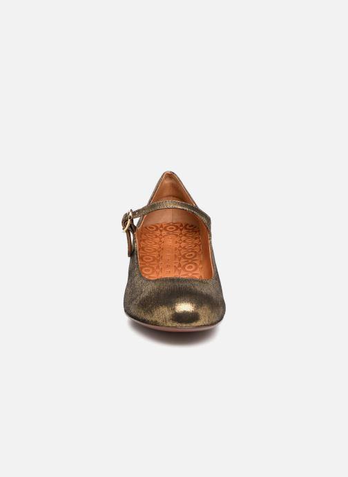 High heels Chie Mihara U Nead 33 Bronze and Gold model view