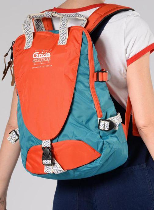 Sacs à dos G.Ride AMBROISE Orange vue bas / vue portée sac