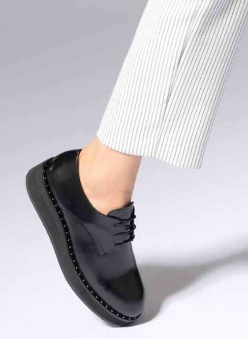 Lace-up shoes Jonak ALANA Black view from underneath / model view