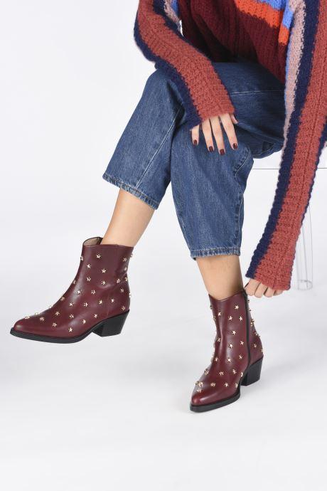 Bottines et boots Jonak OCHO Bordeaux vue bas / vue portée sac