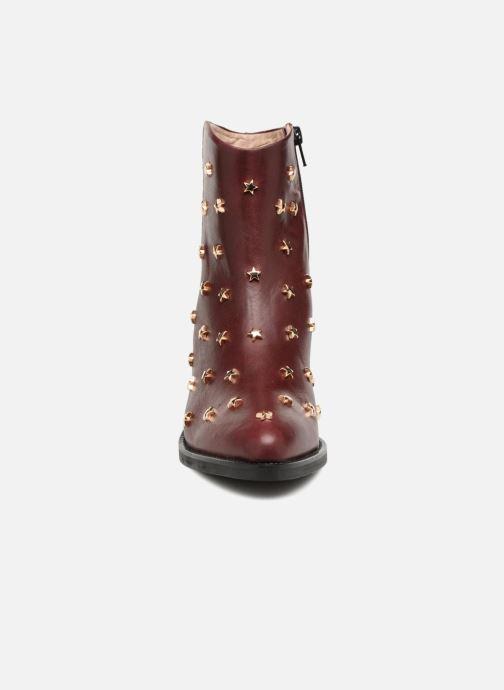Bottines et boots Jonak OCHO Bordeaux vue portées chaussures