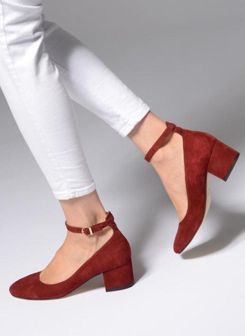 High heels Jonak VESPA Red view from underneath / model view