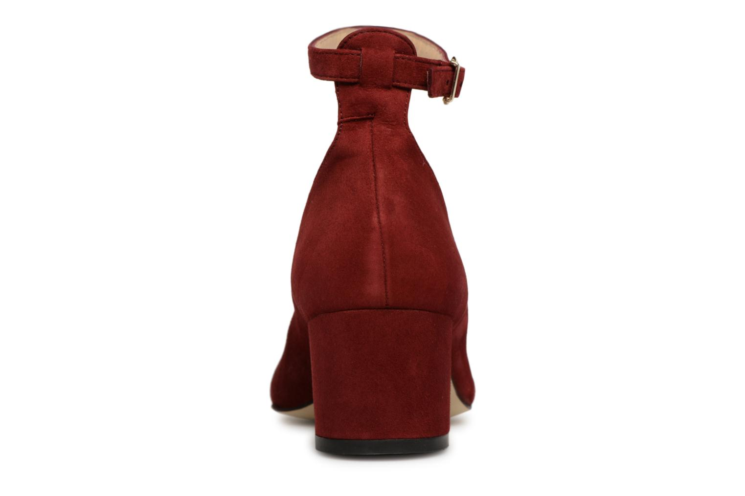High heels Jonak VESPA Red view from the right