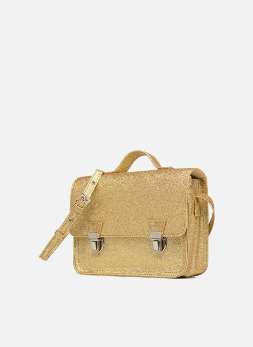 Handbags MiniSéri CARTABLE MINI PAILLETTES Bronze and Gold model view