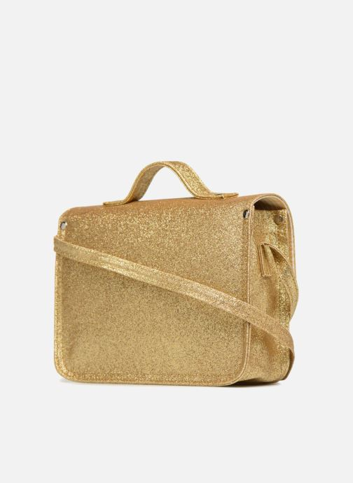 Handbags MiniSéri CARTABLE MINI PAILLETTES Bronze and Gold view from the right