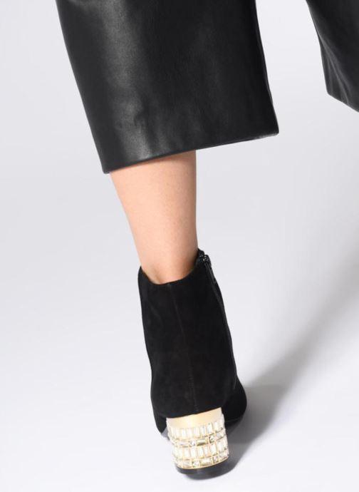 Bottines et boots Dune London ONAA Noir vue bas / vue portée sac