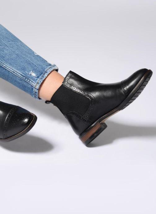 Bottines et boots Dune London QUESTON Noir vue bas / vue portée sac