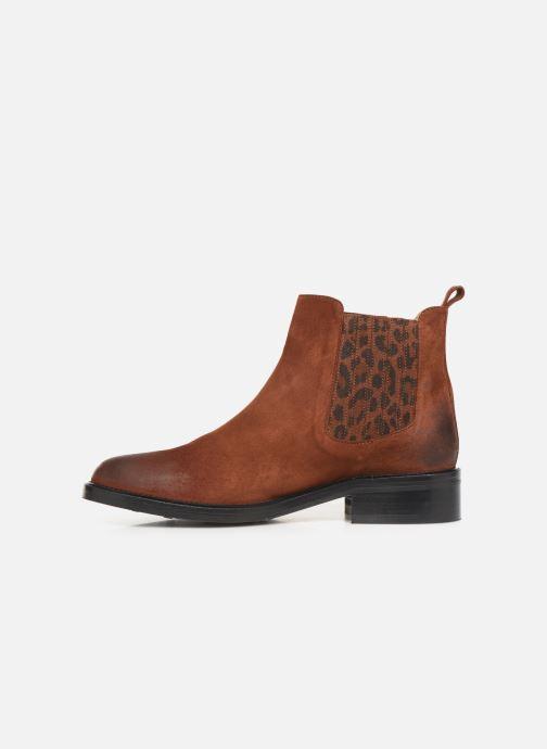 Bottines et boots Schmoove Woman Candide Chelsea Marron vue face