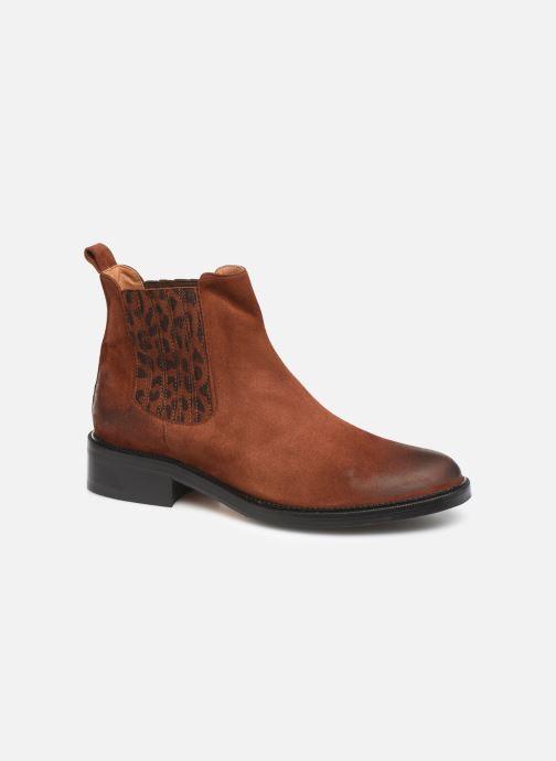Bottines et boots Schmoove Woman Candide Chelsea Marron vue détail/paire