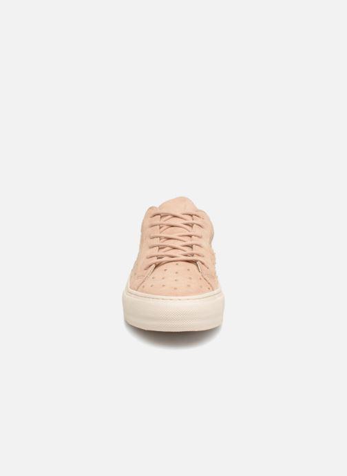 Baskets No Name Arcade Sneaker Suede Beige vue portées chaussures