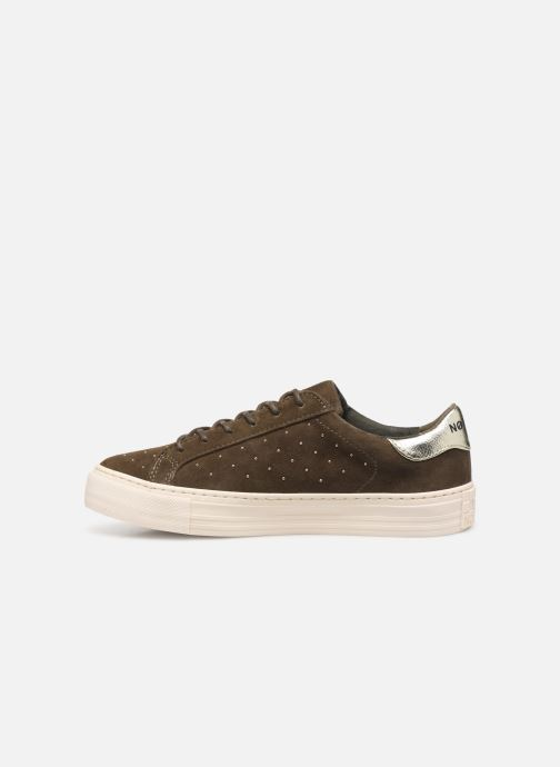 Trainers No Name Arcade Sneaker Suede Green front view