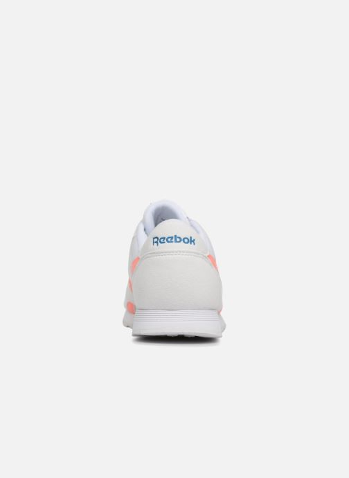 Trainers Reebok CL NYLON M TXT White view from the right